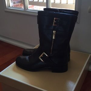 Michael Kors leather chocolate brown boot
